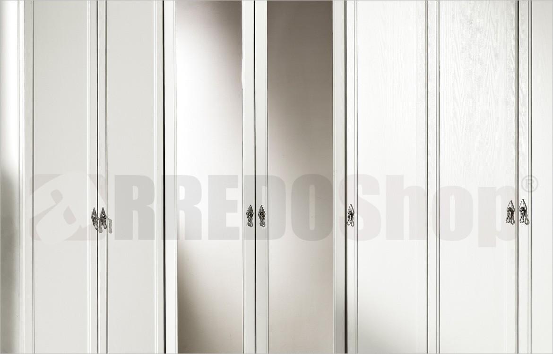 Cabina Armadio Con Ante A Specchio.Armadio Classico Dafne 108 Con Cabina Angolare E Ante A Specchio