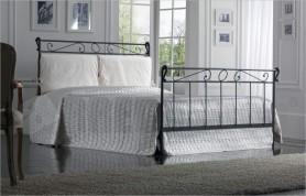 Iron bed mod. Leonardo-graphite black