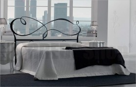 Cloud storage bed with headboard iron