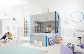 bedroom with bunk bed with cupboard and studying Golf C129