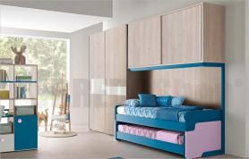 Bridge unit composition Golf C149 with sliding wardrobe, bridge and sliding beds