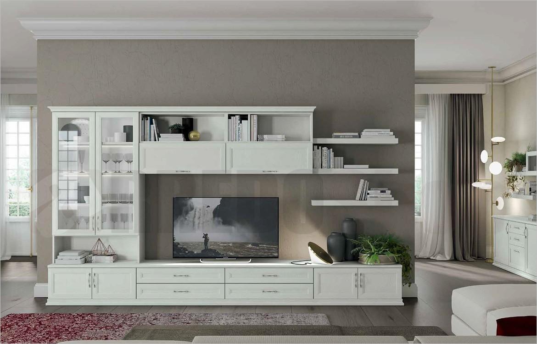 Mobile soggiorno componibile arcadia as105 finiture Mobile soggiorno bianco
