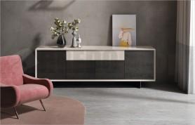 Madia Horizon 868, magnolia lucido e frassino tinto grigio