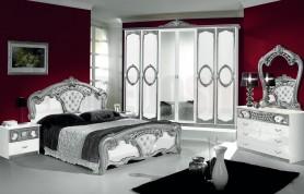 Camera da letto Sara White Silver 06