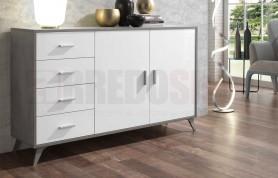 Madia Ariel - Versione Cemento - bianco frassinato