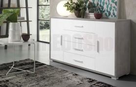 Madia AMAL Versione Cemento e Bianco Frassino