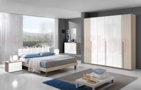 Camera da letto Giulia - Olmo e bianco lucido