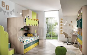 Small bedroom with bunk bed Omnia 06