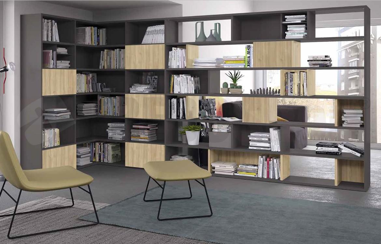 Libreria Per Soggiorno.Mobile Libreria Soggiorno Componibile Golf L111 Golf Frontali Ciliegio Nordico Golf Frontali 2 Grigio Titano