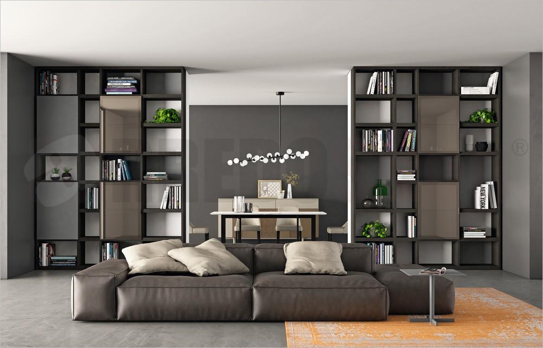 Libreria per soggiorno Horizon 866 by Mobilgam Mobilgam laccati ...